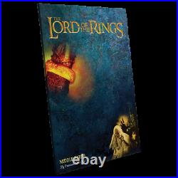 2021 Lord Of The Rings Map Of Middle Earth Premium Silver Foil 35 Gr 2000 Made
