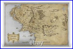 2021 Niue Lord of the Rings Map of Middle Earth Foil Note 35 g Silver Colorized