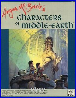 ANGUS McBRIDE'S CHARACTERS OF MIDDLE-EARTH EXC+! MERP ICE Tolkien Game Tome 8007