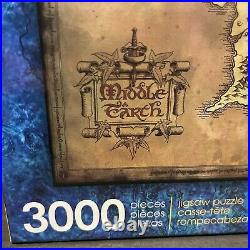 Aquarius Lord of Rings 3000 Piece Puzzle LOTR Middle Earth Map 2020 VHTF RARE