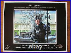 BEREGOND Signed Limited Lithograph (166 of 2000) lotr Beard Middle Earth lord
