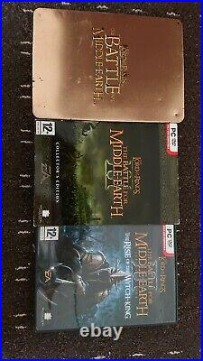 Battle For middle Earth 1 And 2 Collectors edition and ROTWK expansion pack