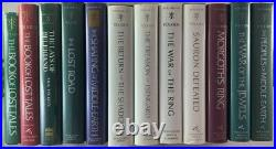 Complete 12v JRR Tolkien Book Set The History of Middle Earth Lord of the Rings
