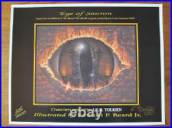 EYE OF SAURON Signed Limited Lithograph (205 of 2000) lotr Beard Earth Middle