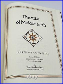 Easton Press ATLAS OF MIDDLE EARTH Hobbit Lord of the Rings COLLECTORS Edition