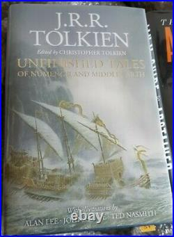 JRR Tolkien SIGNED Unfinished Tales of Numenor & Middle Earth. A lee NEW