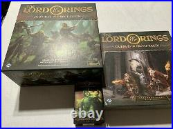 Journeys In Middle Earth Core Boardgame + All 3 Expansions Villains of Eriador