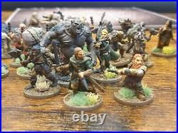 Journeys in Middle Earth Board Game painted to good standard with two small expa
