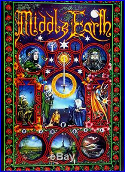LORD OF THE RINGSMiddle EarthPracownik ArtJ. R. R. Tolkien24x36 Art Poster RARE