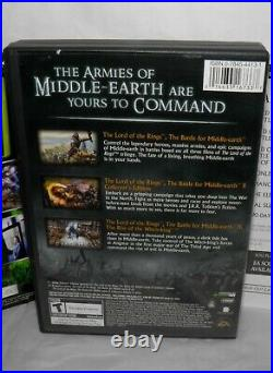 LORD OF THE RINGS Battle For Middle Earth ANTHOLOGY PC Game 5 Disc with Key Codes