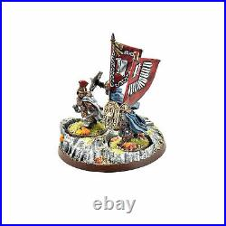 LOTR King's Champion with heralds #1 METAL Middle Earth PRO PAINTED