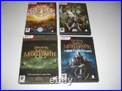 Lord Of The Rings BATTLE FOR MIDDLE EARTH Pc Choose 1 II 2 Collectors Witch King