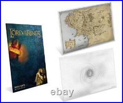 Lord Of The Rings Middle Earth Niue 2 dollars 2021 silver coin note 35g foil