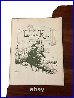 Lord Of The Rings Signed Prints 1975 Middle Earth Frank Frazettas Portfolio Set