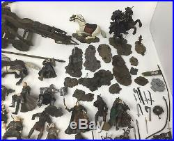 Lord of the Rings Armies Of Middle Earth AOME Lot 53 Figures, 8 Horses & More