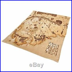 Lord of the Rings Middle Earth Map Fleece Blanket Beige 200x220cm by Elbenwald