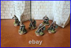 Lord of the rings games workshop Rohan royal guard 9x pro painted middle earth