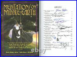 Mediations On Middle-Earth SIGNED AUTOGRAPHED By 17 Authors HC Pratchett Martin