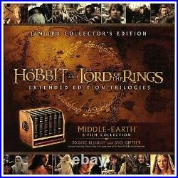 Middle-Earth 6-Film Limited Collector's Edition (Blu-ray + DVD) The Hobbit LOTR