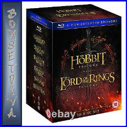 Middle Earth Collection 6 Film Ext Editions- Hobbit & Lord Of The Rings Bluray