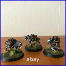 Middle Earth PACK MULES (2) AND DONKEY Citadel, SBG, LOTR painted, FREE SHIPPING