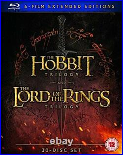 Middle Earth Six Film Collection Extended Edition Blu-Ray 2016 DVD