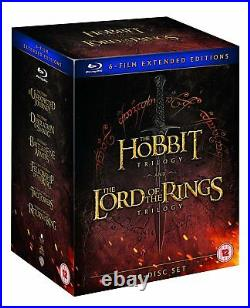 Middle Earth Six Film Collection Extended Edition Blu-ray Hobbit Lord of Rings