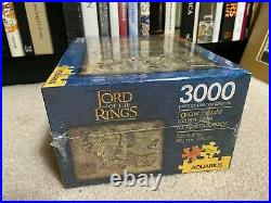 NEW! (#BOX DAMAGE) Lord Of the Rings 3000 Piece Puzzle AQUARIUS middle earth