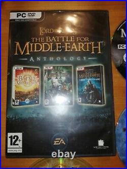 PC CD ROM Games Lord of the Rings Battle for Middle Earth Anthology Rare
