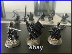 Pro Painted LOTR Mordor Army Ringwraiths Nazgul Witch King Metal GW Middle Earth