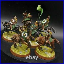 Pro painted 28mm LoTr riders of Rohan ×6 warhammer middle earth games workshop