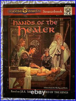 RARE Middle Earth Hands Of The Healer Sourcebook, ICE 2026 MERP, 1997 1st Ed