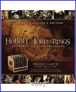 READY TO SHIP LOTR Middle-Earth 6-Film Limited Collector's Ed Blu-ray & DVD