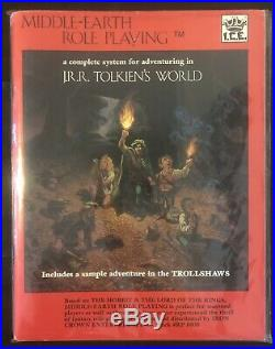 Rare 1984 J. R. R. Tolkien Lotr Middle Earth Role Playing Source Book Merp #8000