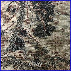 Rare Tolkien Middle Earth Wall Hanging Tapestry Lord Of The Rings Map New W Tag