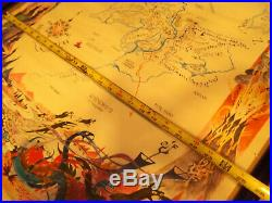 Rare Vintage Barbara Remington Brem LOTR Map Of Middle Earth Original Poster
