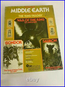 SPI Middle Earth Trilogy Game War of the Ring, Gondor & Sauron Tray Punched