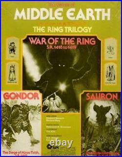 SPI Wargame Middle Earth Trilogy War of the Ring, Gondor & Sauron VG