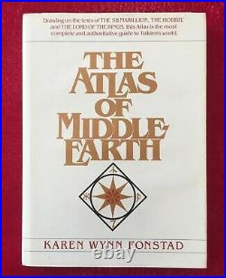 THE ATLAS OF MIDDLE EARTH (TOLKIEN'S WORLD) 1981 1st EDITION DUST JACKET