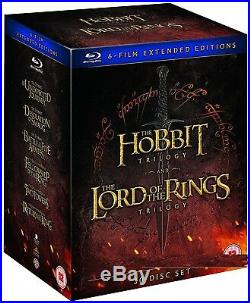 THE LORD OF THE RINGS+THE HOBBIT MIDDLE EARTH COMPLETE Extended RgFree BLU-RAY