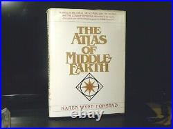 The Atlas of Middle Earth Book First Edition Rare 1981 Lord Of The Rings