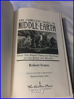 The Complete Guide To Middle Earth Robert Foster RARE Leather LOTR 2003 Book