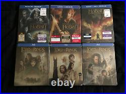 The Lord Of The Rings & The Hobbit New 6 Blu-ray Steelbook Lot Middle Earth