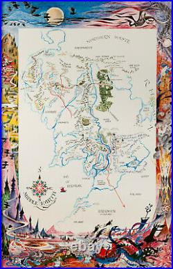 The Lord of the Rings A Map of Middle Earth Remington Reproduction Repro Print