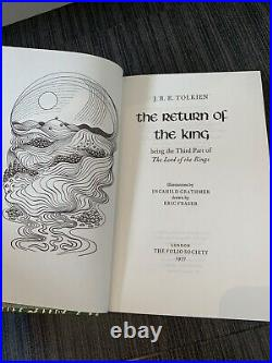 The Lord of the Rings JRR Tolkien Folio Society 2002, Illustrated, Caxton Press