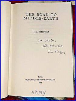 The Road To Middle Earth SIGNED by T. A. Shippey, 1983 1st Ed. 1st Print LOTR