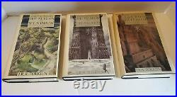 Tolkien History of Middle-Earth, Lord of the Rings Part 1, 2 & 4. Hardcover Lot