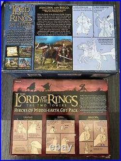 Toybiz Lord Of The Rings Heroes Of Middle Earth Aragorn Legolas Gimli Brego