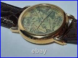Unisex Lord of the Rings LOTR Middle Earth Map Watch, Gold Tone One Ring Tolkien