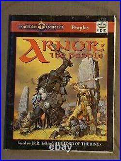 Vintage Middle Earth Arnor The People Lord Of The Rings Role Playing Book Ice